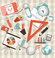 School or business - office objects set on vector