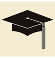Mortar board or graduation hat vector