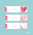 Cute note paper with hearts ready for your message vector