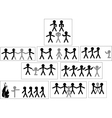Set of icons and people symbols team work and vector