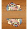 Wood texture with layout vector