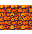 Halloween background with funny pumpkins vector