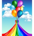 Balloons with rainbow vector