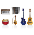 Music instrument icons vector