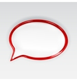 Red glossy speech bubble vector
