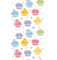 Colorful cupcake party vertical seamless pattern vector