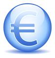 Euro button vector