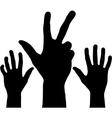 Black hands vector