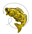 Game fish vector