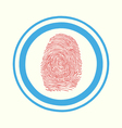 Fingerprint scan touch vector