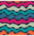 Seamless abstract hand-drawn waves texture wavy vector