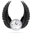 Black wings clock vector