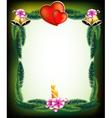 Valentines day original holiday frame vector