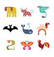 Animal icon set 9 vector