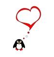 Penguin on love vector