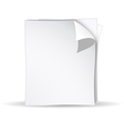 3d white papers vector
