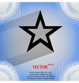 Star web icon on a flat geometric abstract vector