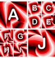Design abc letters from a to j vector