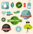 Organic natural product retro labels - tags - vector