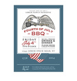 Vintage independence day barbecue invitation vector