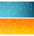 Squares technology banners vector