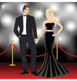 Beautiful famous couple fashion woman and elegant vector