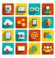 Social media icons flat vector