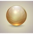 Golden transparent globe on light background vector