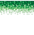 Abstract triangle mosaic green background design vector