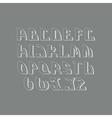 Retro styled font design elements vector