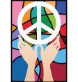 Hand peace vector