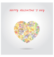 Colorful heart shape on background vector