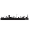 Vladivostok russia city skyline detailed silhouett vector