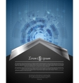 Concept tech background with metal arrow vector