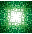 Abstract green triangle mosaic background design vector