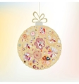 Christmas snowflakes bauble vector