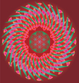 Color ornamental floral mandala vector