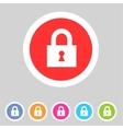 Flat game graphics icon lock vector