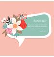 Floral speech bubble vector