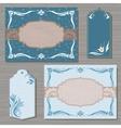 Decorative cards template vector