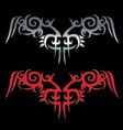 Tribal tattoo isolated on black and white backgrou vector
