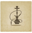 Hookah old background vector