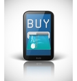 E-commerce concept with smartphone and credit card vector