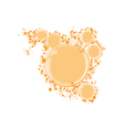 Round frame for text orange bubbles vector