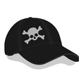 Black baseball cap vector