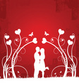Couple kissing | red 1 vector