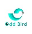 Modern simple bird logo vector