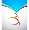 Abstract background with a colorful man with frame vector