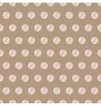 Vintage brown background with grunge polka dots vector