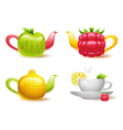Fruit tea vector
